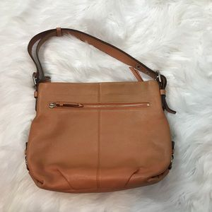 Coach Orange Tint Leather Shoulder Bag
